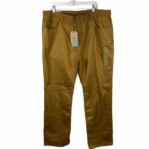 prAna Bridger Jeans Embark Brown Khaki Slim Fit 40